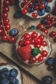 Berry tartlets — Stock Photo