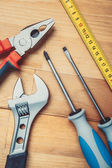 Tools on table — Stock Photo