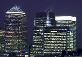 Canary Wharf in London — Stock Photo