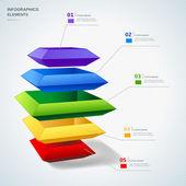 Infographics elemanları — Stok Vektör