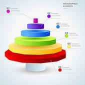 Infographic design elements  — Stok Vektör