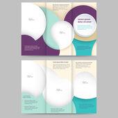 Abstract brochure template — Stock Vector