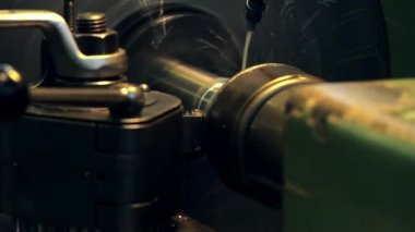 Lathe, turning machine — Stock Video