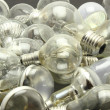 Stock Photo: Selection of different used lightbulbs