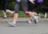 Running legs from a race — Stockfoto