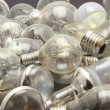 Selection of different used lightbulbs — Stock Photo