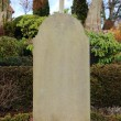 Stock Photo: Headstone at graveyard without any name