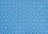 Ice blue non-slip surface on a ferry deck — Stock Photo