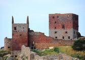 Hammershus Castle ruin main tower — Stock Photo