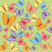 Textura transparente mariposas — Vector de stock