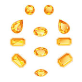 Amber Topaz Set — Stock Vector