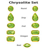 Chrysolite Set With Text — 图库矢量图片