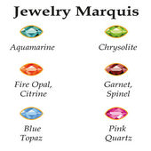 Jewelry Marquis Isolated Objects — 图库矢量图片