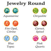 Jewelry Round Isolated Objects — ストックベクタ