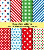 Seth baby cloth — Stock Vector