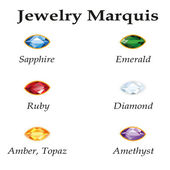 Jewelry Marquis. Isolated Objects — 图库矢量图片