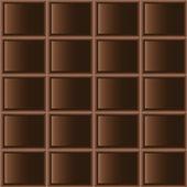 Chocolate dark tiles seamless texture — Stock Vector