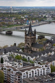 Aerial view of Cologne, Germany — Stock Photo