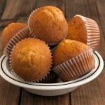 Homemade golden muffins — Stock Photo #47002755