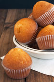 Homemade golden muffins — Stock Photo