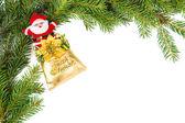 Noel baba noel çerçeve — Stok fotoğraf