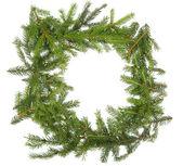Round Christmas frame — Stok fotoğraf