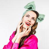 Portrait of beautiful style woman — Stock Photo