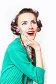 Funny surprised fashion woman — Stock Photo