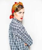 Serious fashion woman — Stock Photo