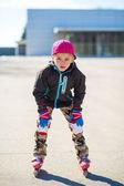 Boy roller-blading — 图库照片