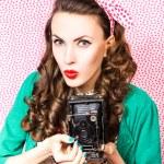 Woman with photo camera — Stock Photo #42808769