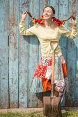 Cute hippie woman — Stock Photo