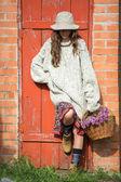 Romantic spring woman — Stock Photo