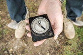 Hand holding the compass — Stock Photo