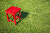 Red wood stool — Stock Photo