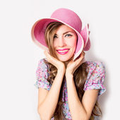 Woman wearing hat — Stock Photo