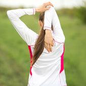 Venkovní fitness model — Stock fotografie