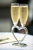 Wedding champagne glasses — Stock Photo