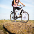 Tourist cyclist — Stock Photo #47925467