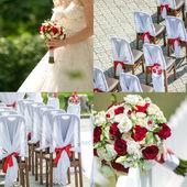 Bruiloft collage — Stockfoto