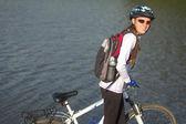 Ciclista da bicicleta — Fotografia Stock