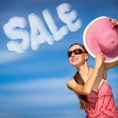 Sale summer woman — Stock Photo