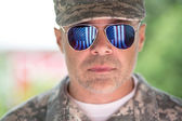 Handsome american  army soldier — Stock Photo