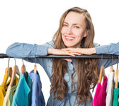 Smiling woman shopping — 图库照片