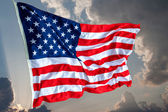 United States of America flag on sky — Stock Photo