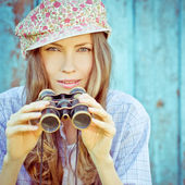 Hipster style girl — Stock Photo