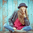 Young hipster woman — Stock Photo
