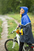 Autumn biking — Stock Photo