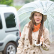 Young happy woman with umbrella — Stock Photo #50120147