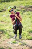 Adventure climbing high wire park — Stock Photo